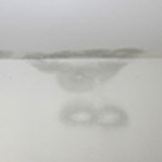 A water stain on the ceiling.